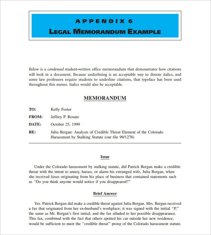 sample memo template word – Legal Memo Template