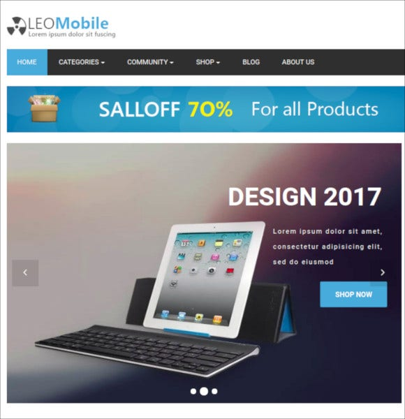 leo mobile prestashop theme