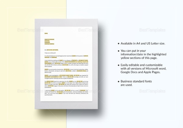 letter of recommendation template1