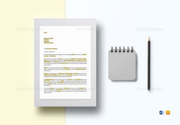 letter of recommendation template2