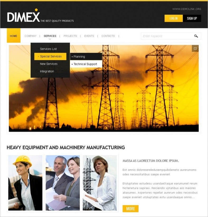 lighting electricity drupal template 788x820
