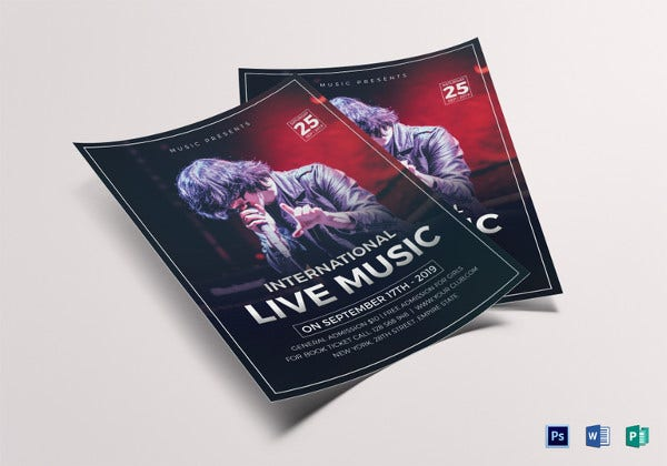 live music concert flyer template