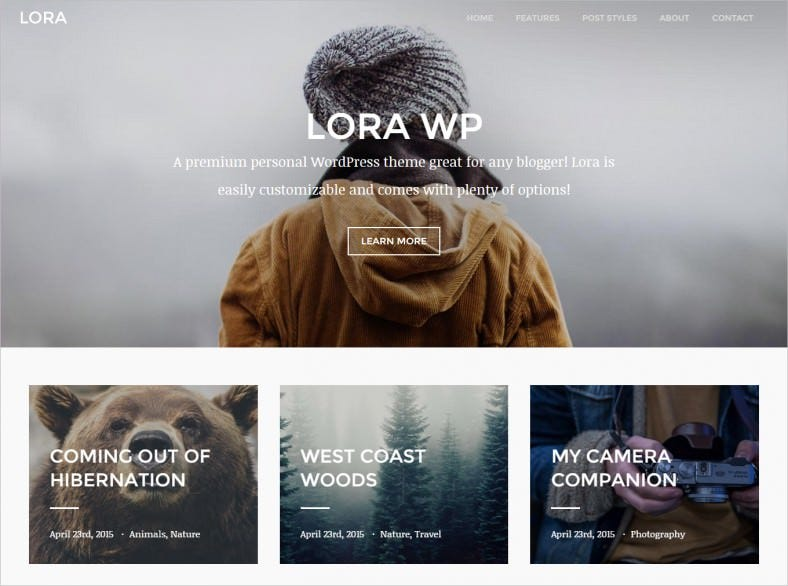 lora responsive wordpress blog theme 788x586