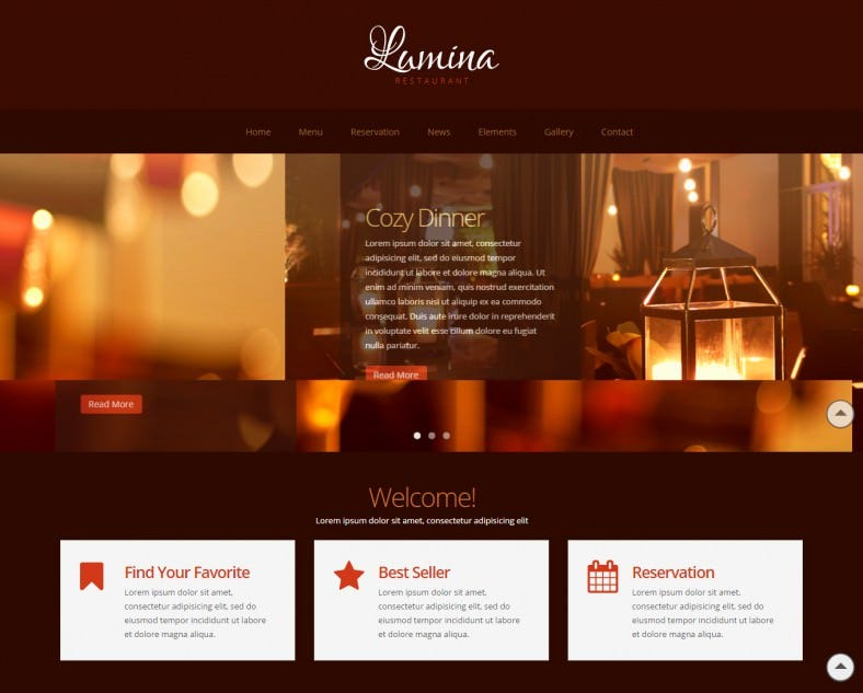 lumina responsive restaurant website template 788x633