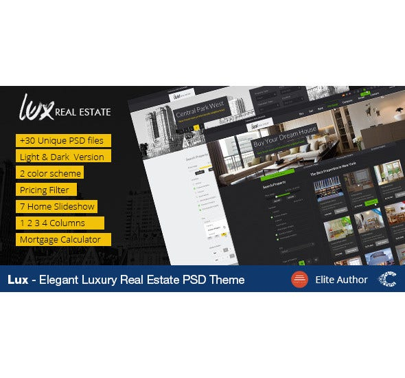 luxury real estate psd template