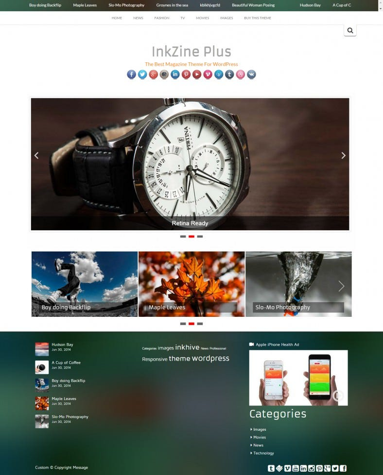 magazine entertainment wordpress template 788x976