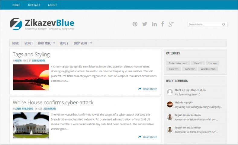 magazine free blue blogger theme 788x481