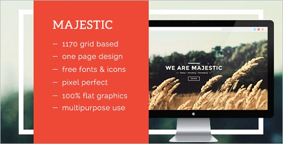majestic creative psd template