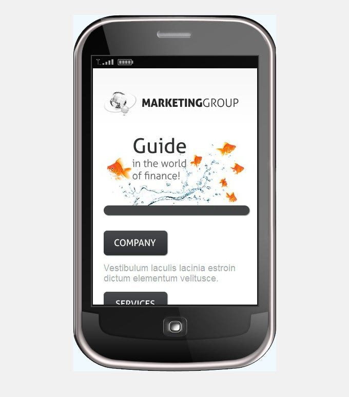 marketing agency mobile template