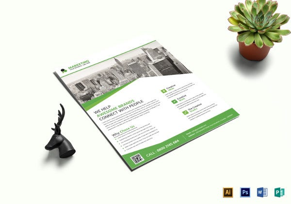 marketing business flyer template in word