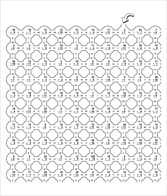 sample fun math worksheet templates  free pdf documents download  maze fun math worksheet template
