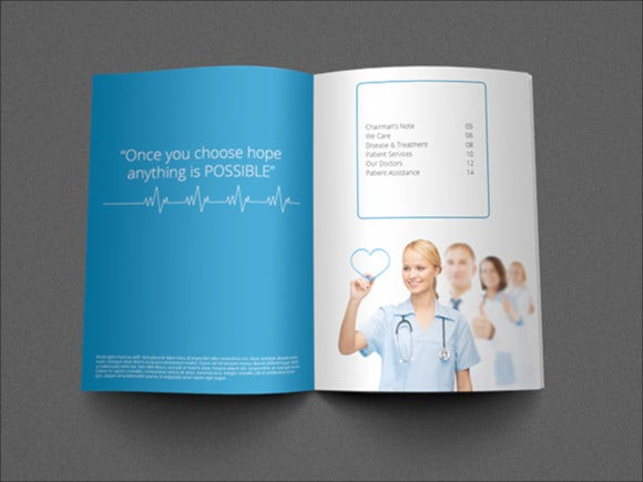 medical industry brochure template