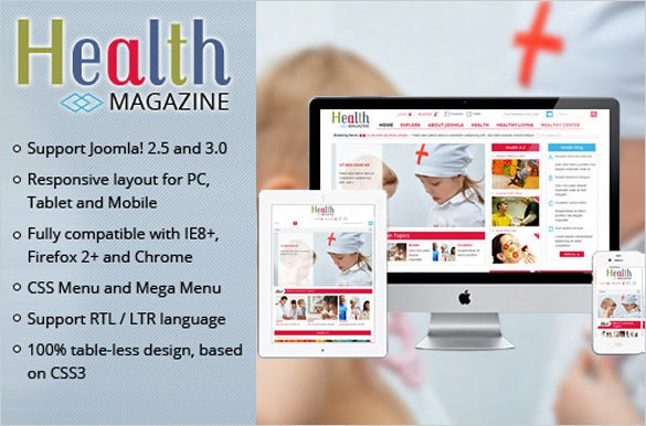 medical news magazine psd template