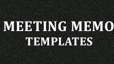 meeting memo template word .