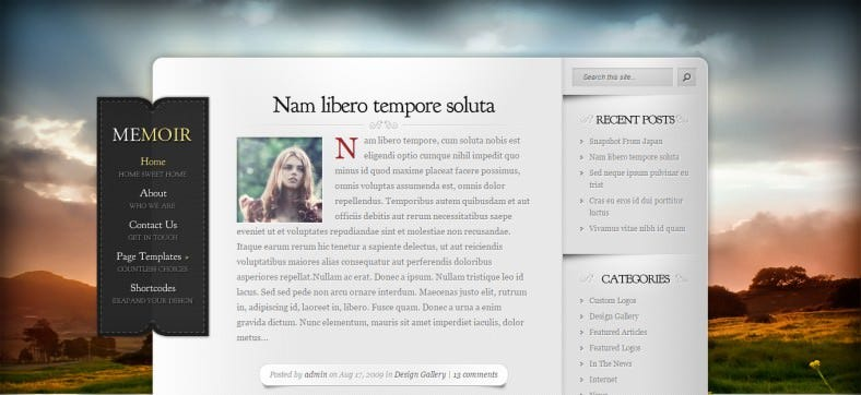 Memoir-WordPress-Theme