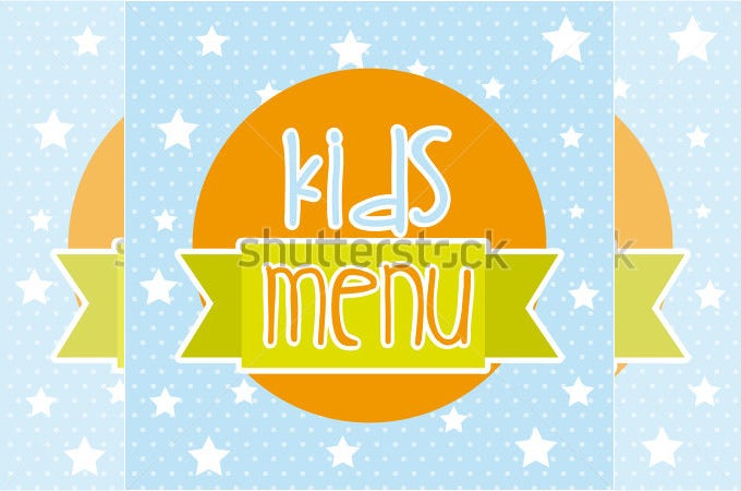 menu kids over blue background vector illustration