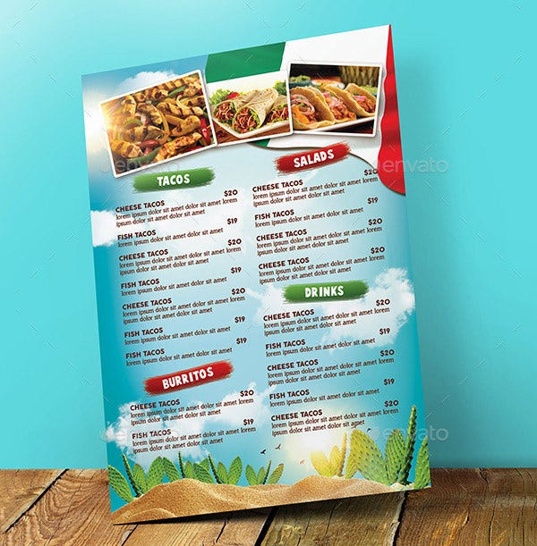 Food Menu Template   Free Word Pdf Psd Eps Indesign Format