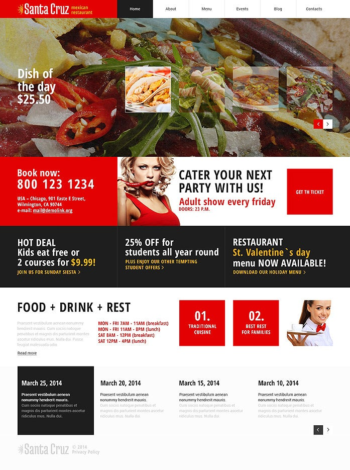 mexican restaurant red responsive wordpress theme 75