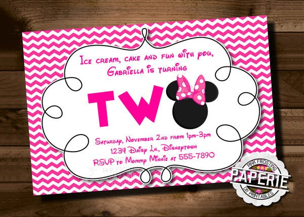 minnie mouse head invitation template