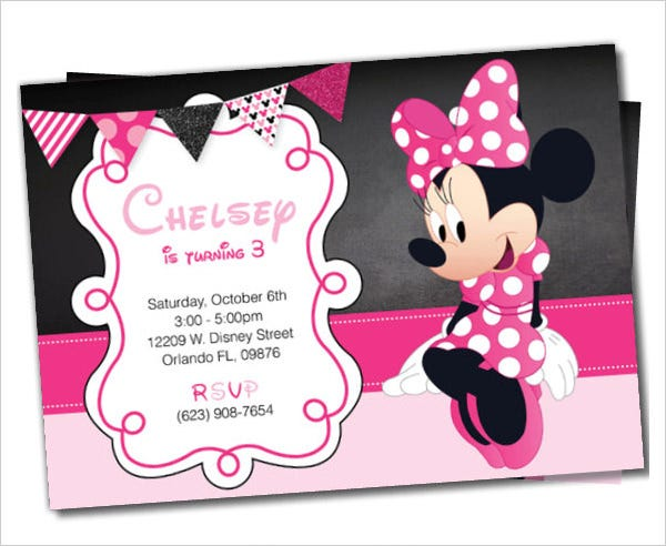 Downloadable Birthday Invitations Templates Free Minnie Mouse