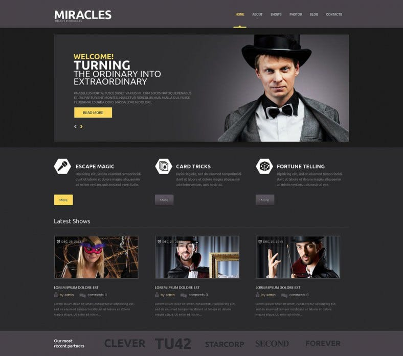miracle entertainment wordpress theme 788x696