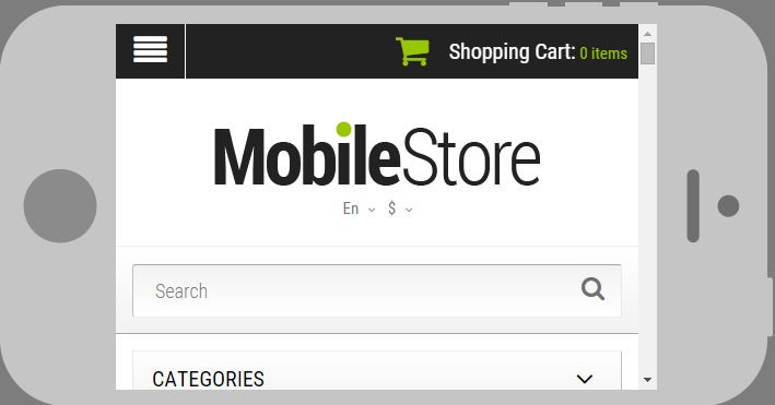 mobile phones opencart template