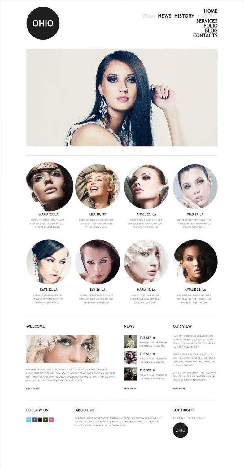 Model Agency Drupal Template