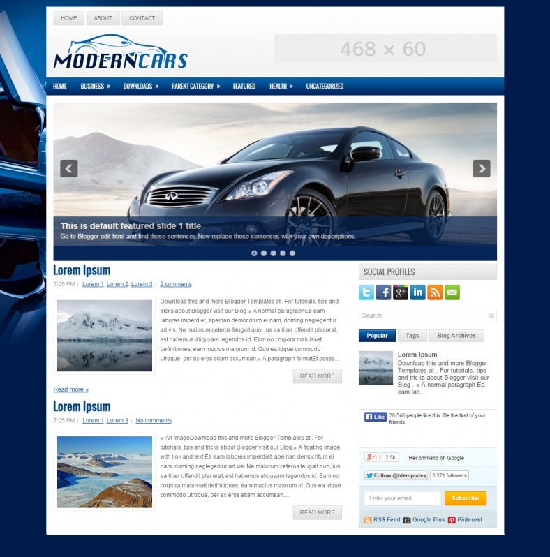 modern cars automobile responsive blogger template 788x798