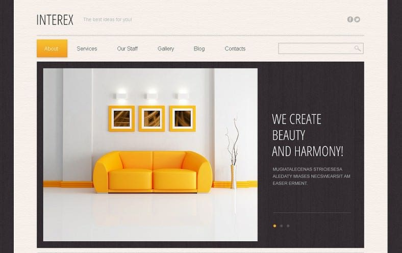 Modern Interior Design Drupal Template