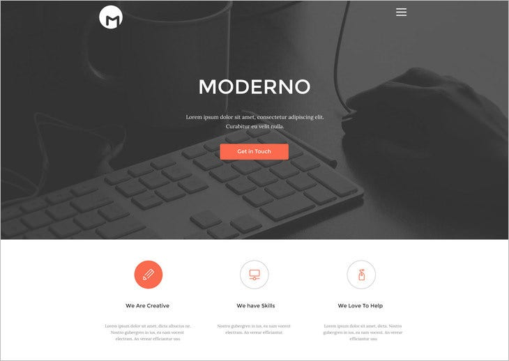 free creative simple portfolio psd template