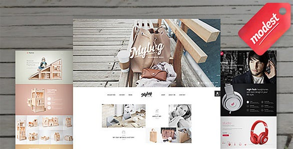 modest shop ecommerce psd template