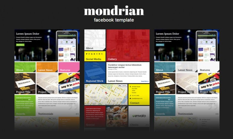 mondrian facebook style responsive template 12 788x473