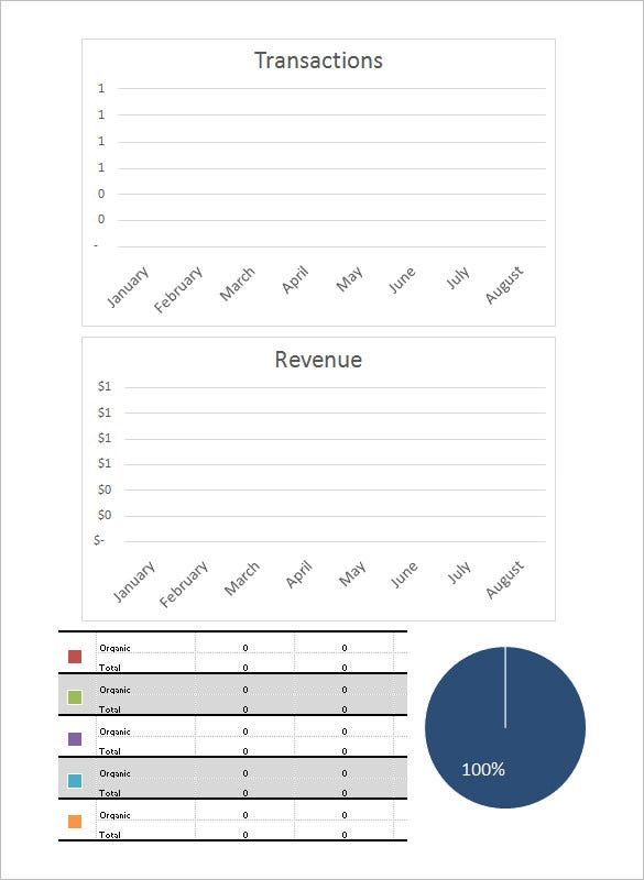monthly seo report ecommerce template