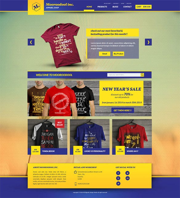 mooroodool e commerce psd template