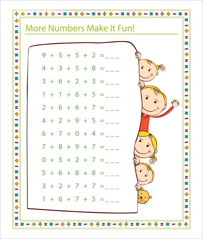 20 Sample Fun Math Worksheet Templates – Fun with Maths Worksheets
