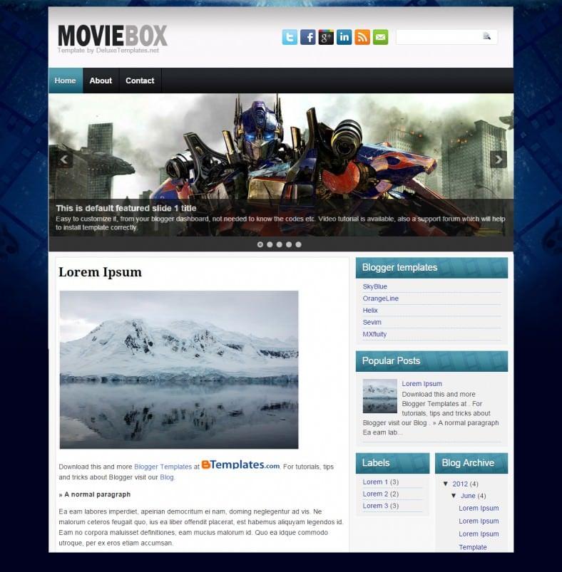 movie box cinema blogger template 788x803