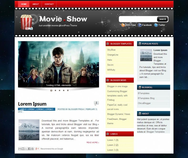 movie show cinema responsive blogger template 788x663