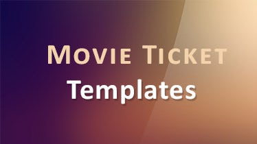 movie ticket templates