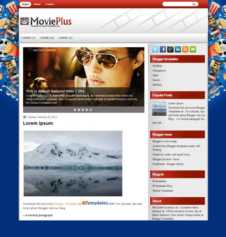 30 Best Cinema Blogger Templates Themes Free Premium Templates