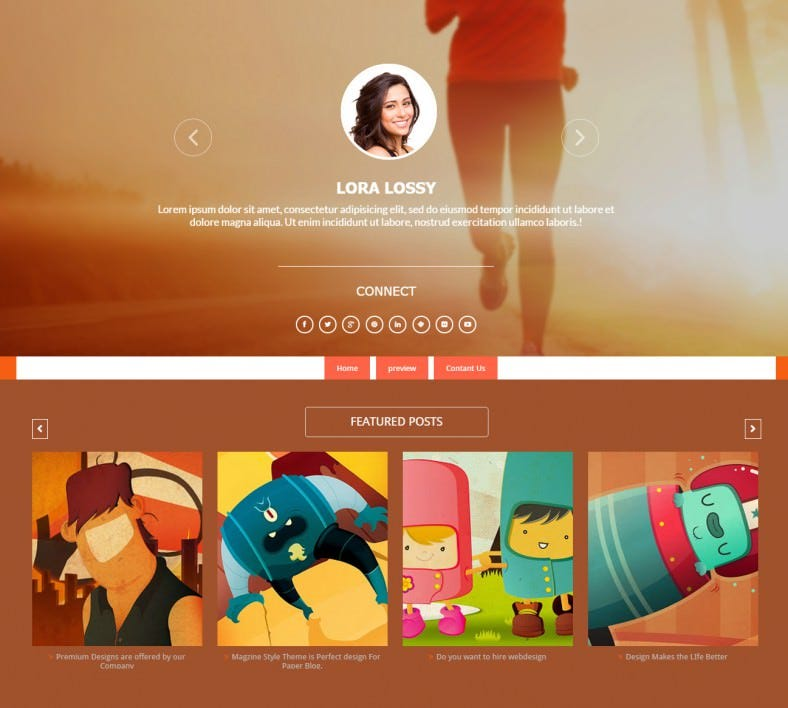 multi author blogger responsive template 788x708