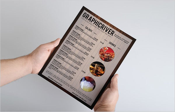 multipurpose wooden style menu card