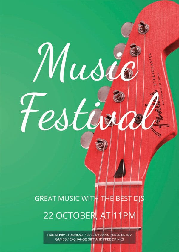 music festival flyer template1