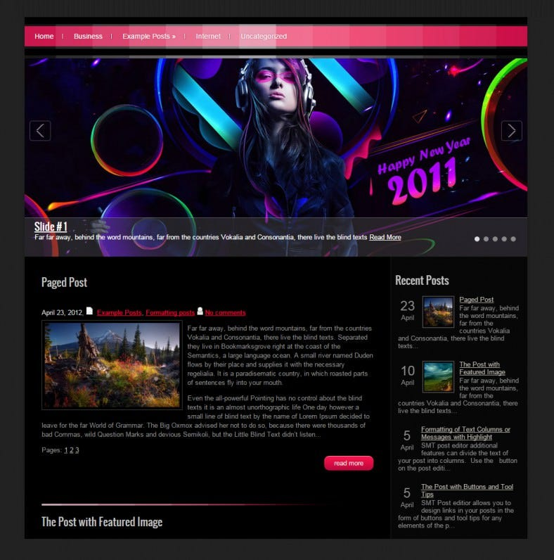 musicpress pink responsive wordpress template 39 788x796