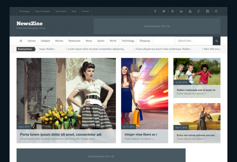newszine newspaper wordpress theme 788x539