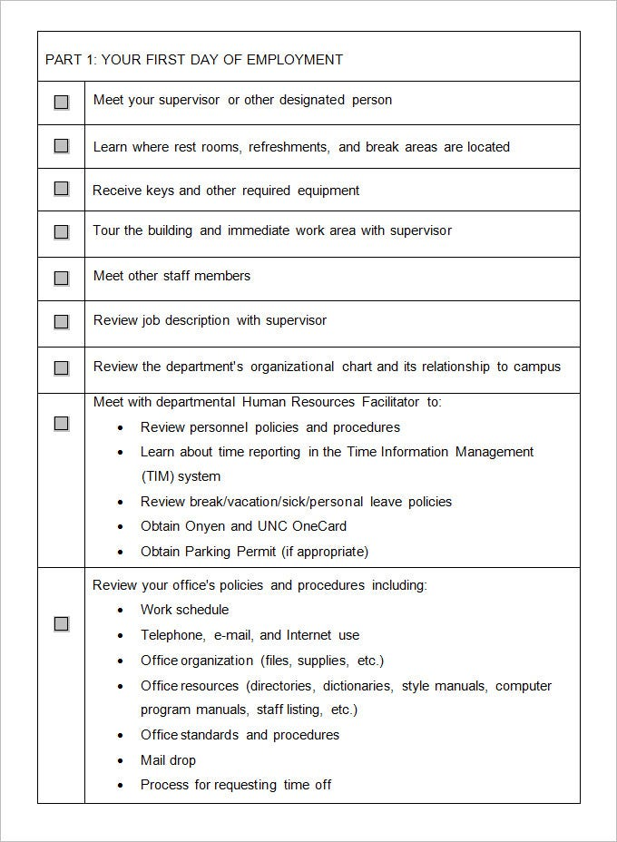 new employee orientation template