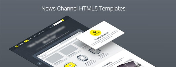 News Channel HTML5 Templates