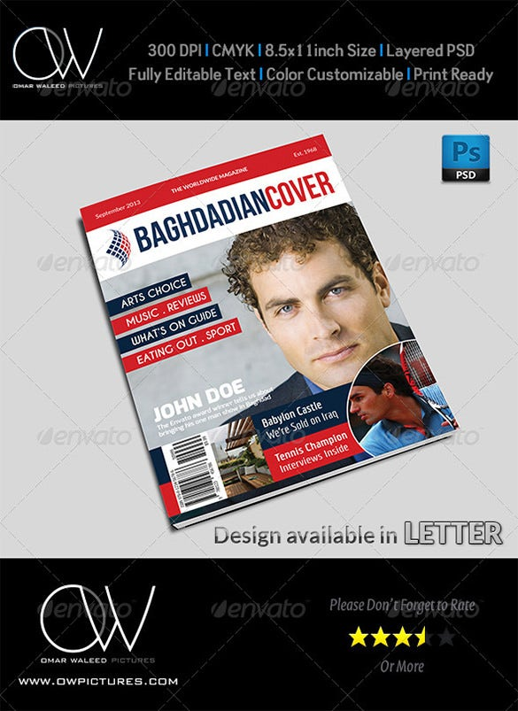 news magazine psd cover template