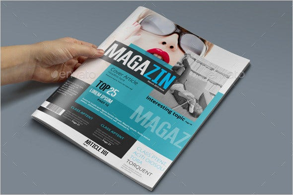 news magazine psd template sample