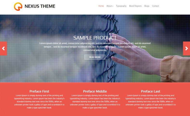 Flat Responsive Drupal Theme Free Download