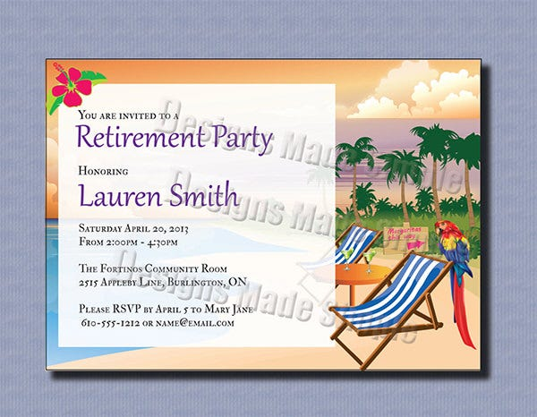 retirement invitation template free - 30 retirement party invitation design templates psd